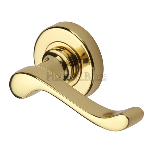 Door handle 38. Polished chrome, brass